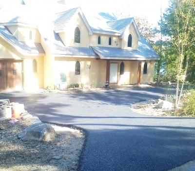 Lake Winnipesaukee, porous pavement driveway